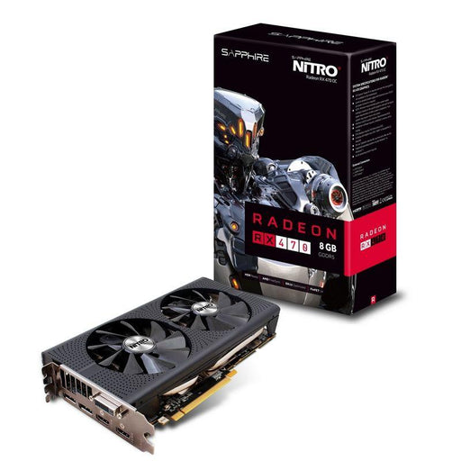 Sapphire AMD NITRO+ RX 470 8GB OC Gaming Video Card - GDDR5,2xDP/2xHDMI2.0/DVI,CF,FreeSync,1121/1260MHz (LS)