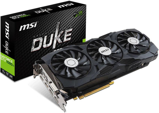 MSI NVIDIA GTX 1080 TI DUKE 11GB OC Video Card -  GDDR5X 2xDP/2xHDMI/DVI SLI VR Ready 1531/1645MHz