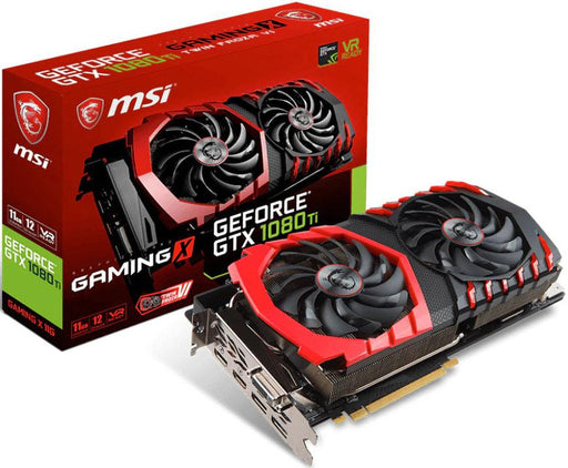 MSI NVIDIA GTX 1080 TI GAMING X 11GB Video Card -  GDDR5X 2xDP/2xHDMI/DVI SLI VR Ready 1480/1683MHz