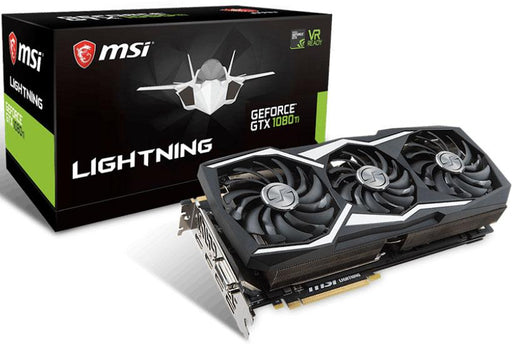 MSI NVIDIA GTX 1080 TI LIGHTING Z Extreme Gaming Video Card -  GDDR5X 2xDP/2xHDMI/DVI SLI VR Ready 1480/1721MHz