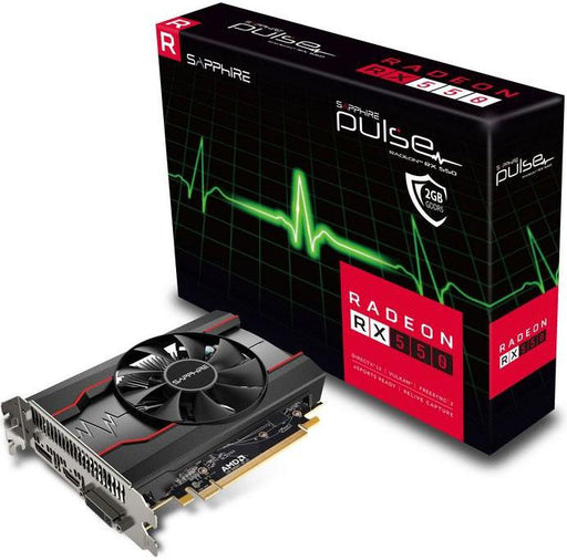 Sapphire AMD PULSE RX 550 2GB Gaming Video Card - GDDR5 DP/HDMI/DVI AMD Eyefinity 1206MHz