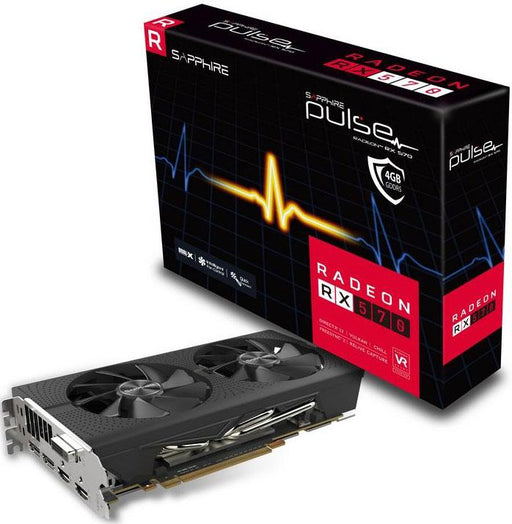 Sapphire AMD PULSE RX 570 4GB Gaming Video Card - GDDR5 2xDP/2xHDMI/DVI AMD Eyefinity 1284MHz