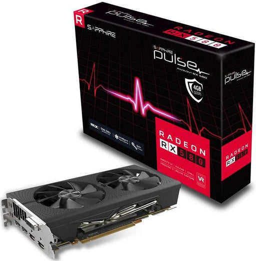 Sapphire AMD PULSE RX 580 4GB Gaming Video Card -  GDDR5 2xDP/2xHDMI/DVI VR Ready 1366MHz