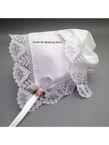Garden Party Lace Baby Handkerchief Bonnet