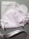 Park Avenue Lace Hankie Bonnet - white or antique white