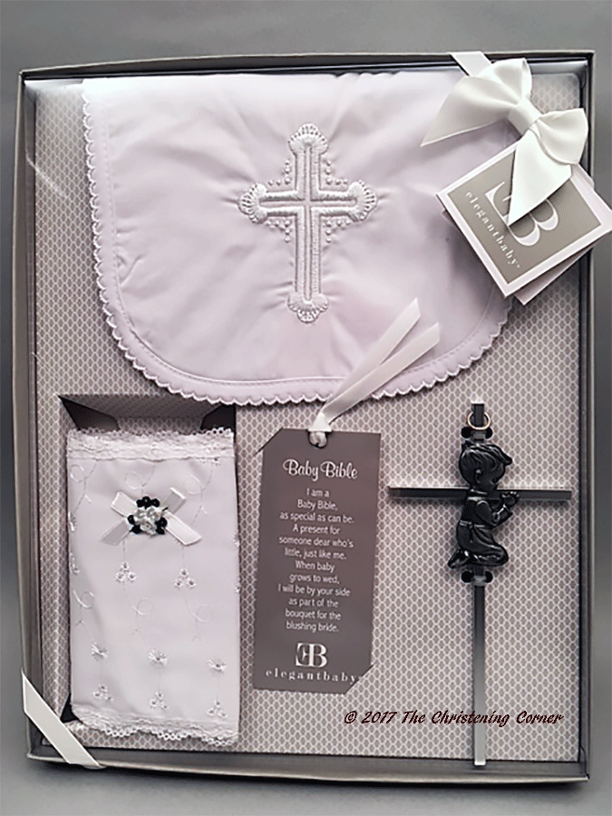Boys First Bible, Bib and Cross Gift Set
