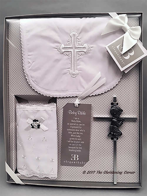 Boy's First Bible, Bib and Cross Gift Set