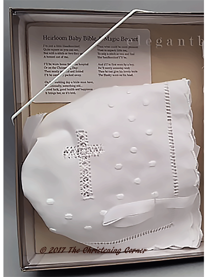 Babys First Bible & Bonnet Gift Set - bonnet
