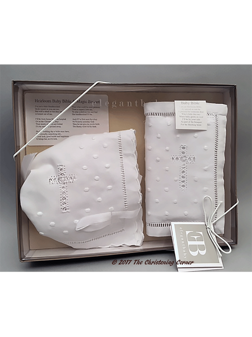 Baby's First Bible & Bonnet Gift Set