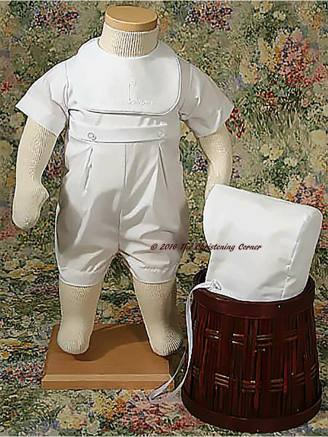 Boys Cross Christening Romper