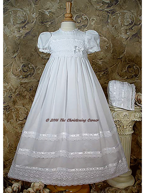 Cotton Batiste Gown with Cluny Lace