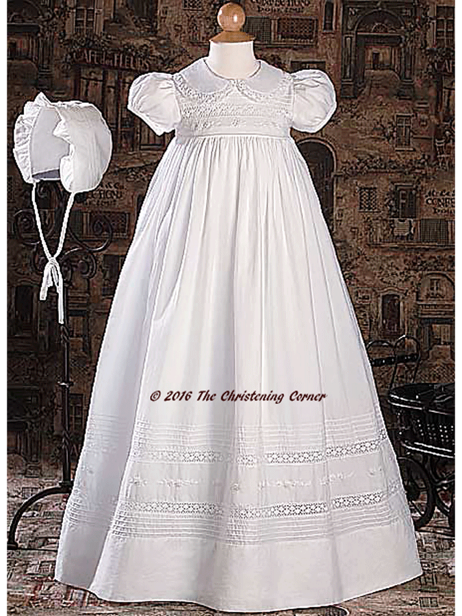 hand embroidered, lace heirloom christening gown   Christening ...