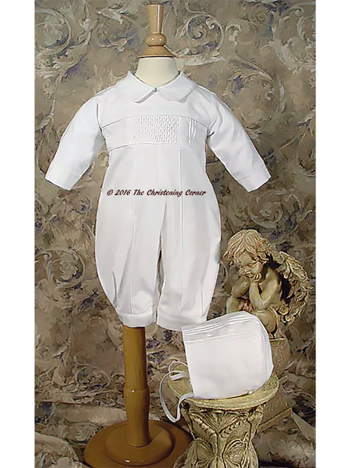 Smocked Boys Christening Outfit
