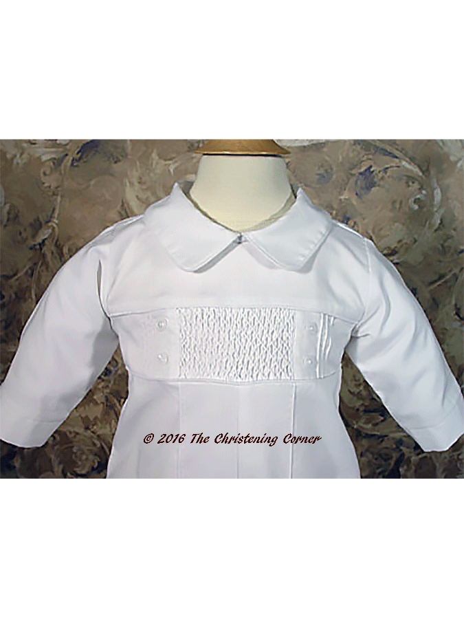 Smocked Boys Christening Outfit - bodice
