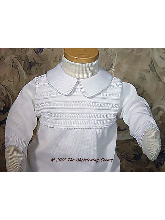 Cotton Knit Christening Outfit - bodice