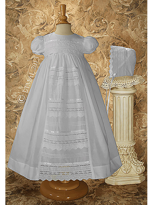 Girls Christening Gown with Venise Lace