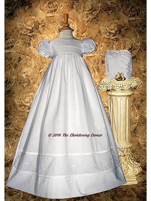 Cotton Heirloom Christening Gown for Girls