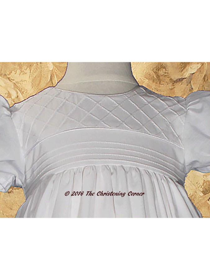 Cotton Heirloom Christening Gown for Girls - bodice