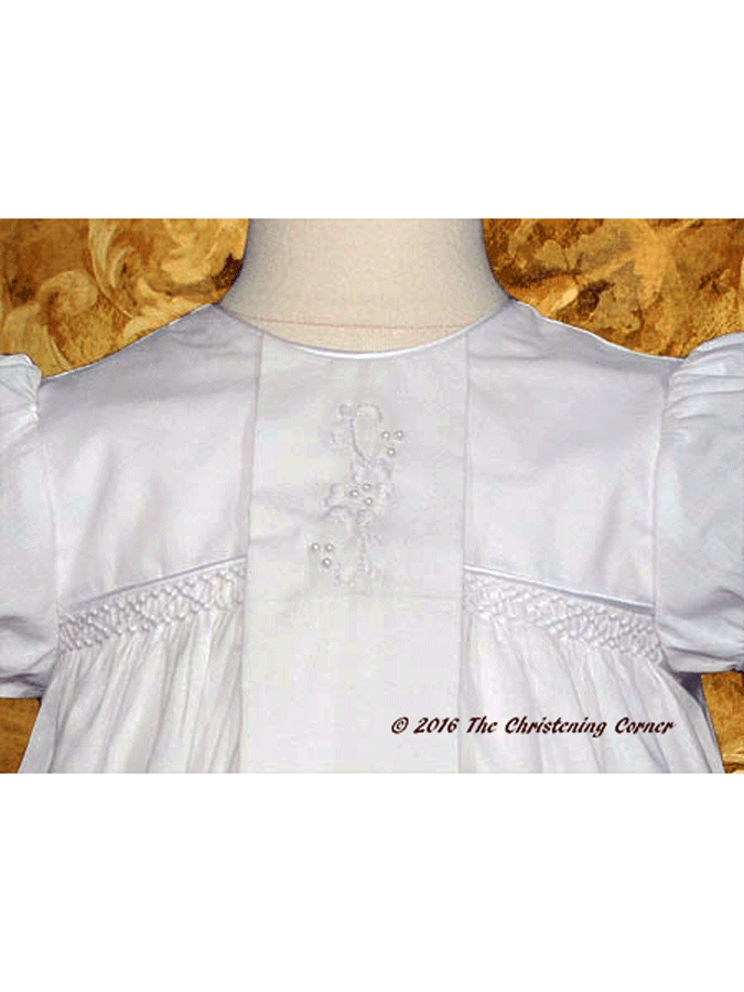 Victorian Style Lace Christening Gown - bodice