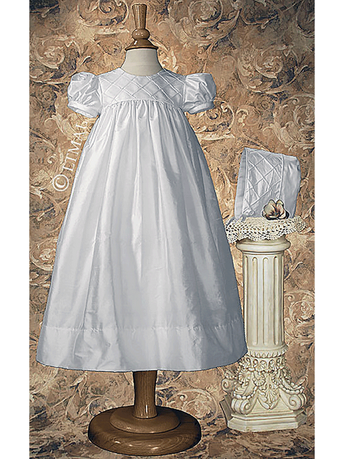 Dupioni Silk Christening Gown