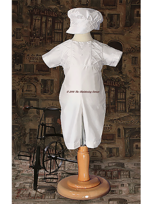 Boys Silk Heirloom Christening Outfit