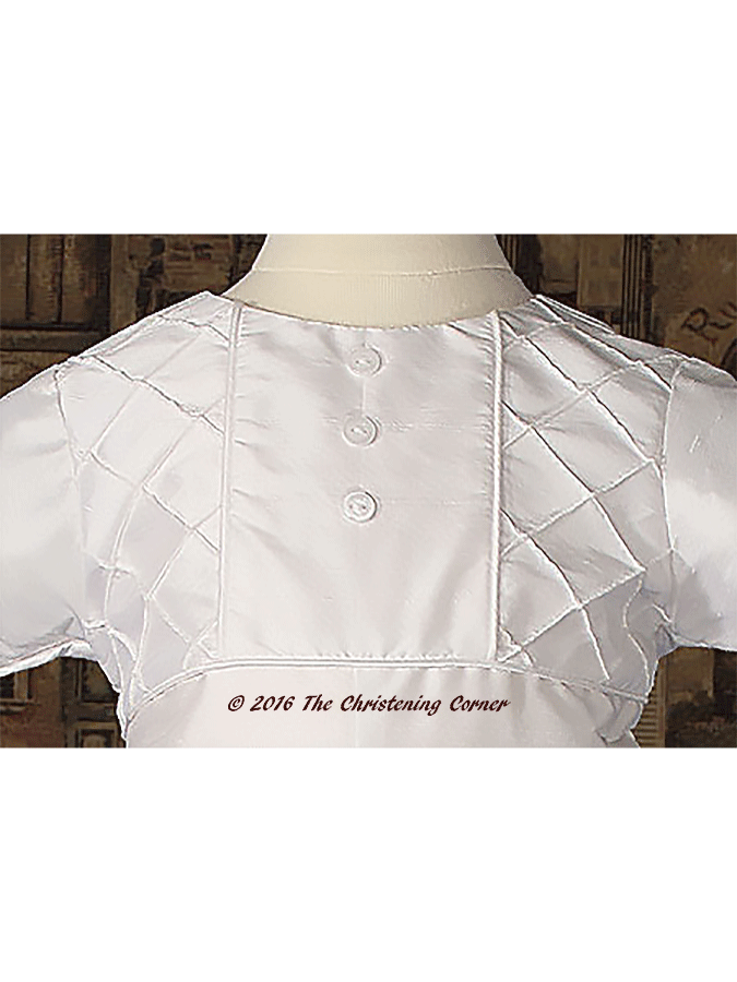 Boys Silk Heirloom Christening Outfit - bodice
