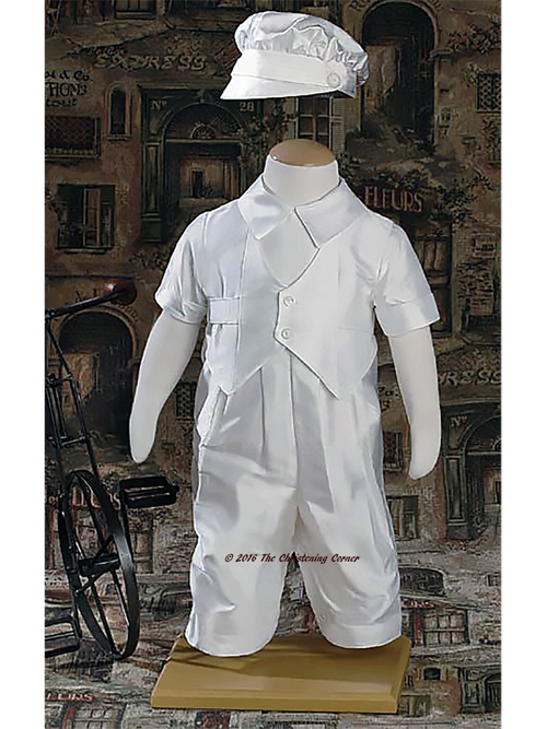 Silk Vested Christening Outfit for Boys