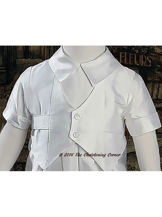 Silk Vested Christening Outfit for Boys - bodice