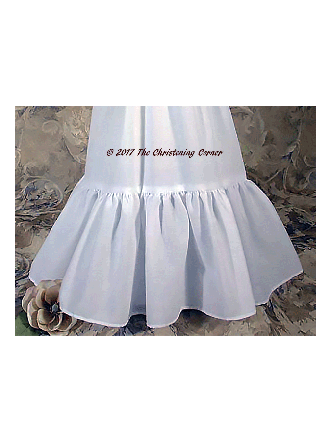Toddlers Ruffled Slip for Vintage Christening Gowns