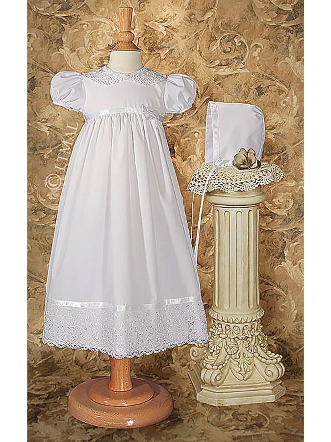 Baptism Dress with Lace Collar