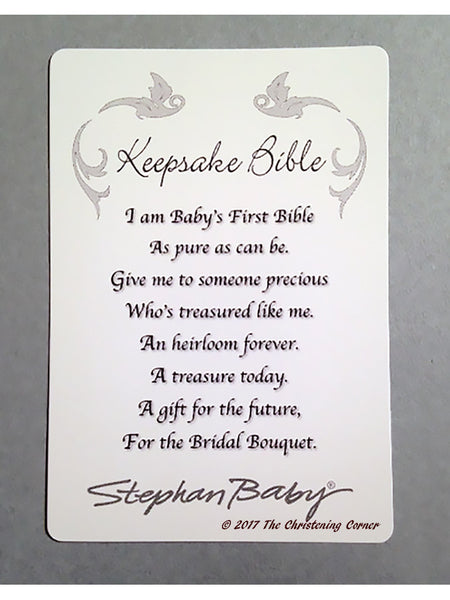 Baby Girls First Keepsake Bible Cross Cover The