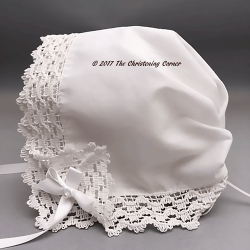 Country Abbey Lace Hankie Bonnet