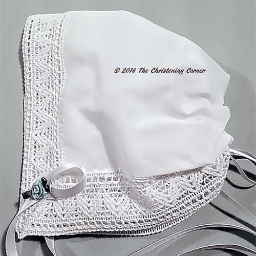 Chapel Lace Magic Baby Hankie Bonnet