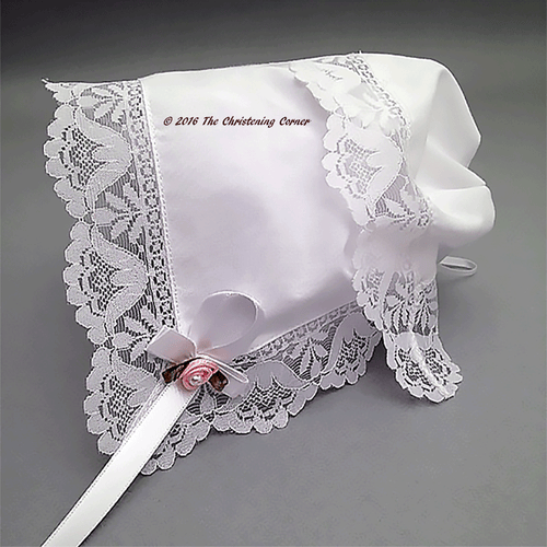 Garden Party Lace Baby Keepsake Bonnet
