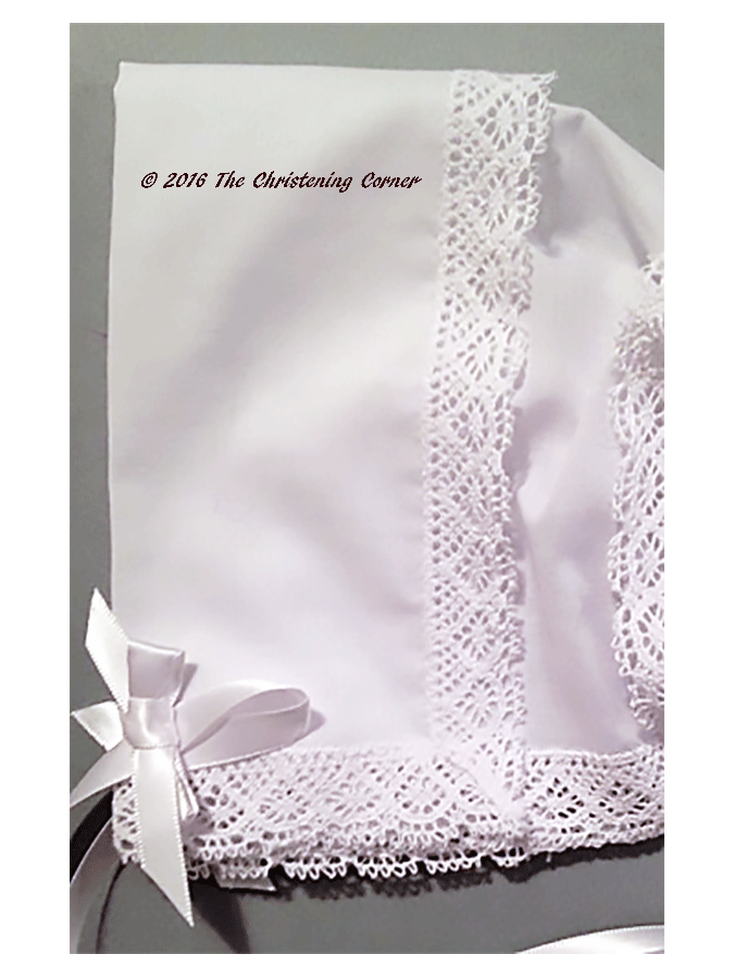 Park Avenue Lace Hankie Bonnet - white - detail