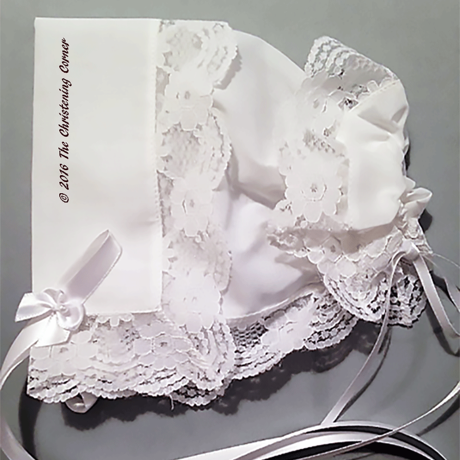 Regal Lace Handkerchief Bonnet