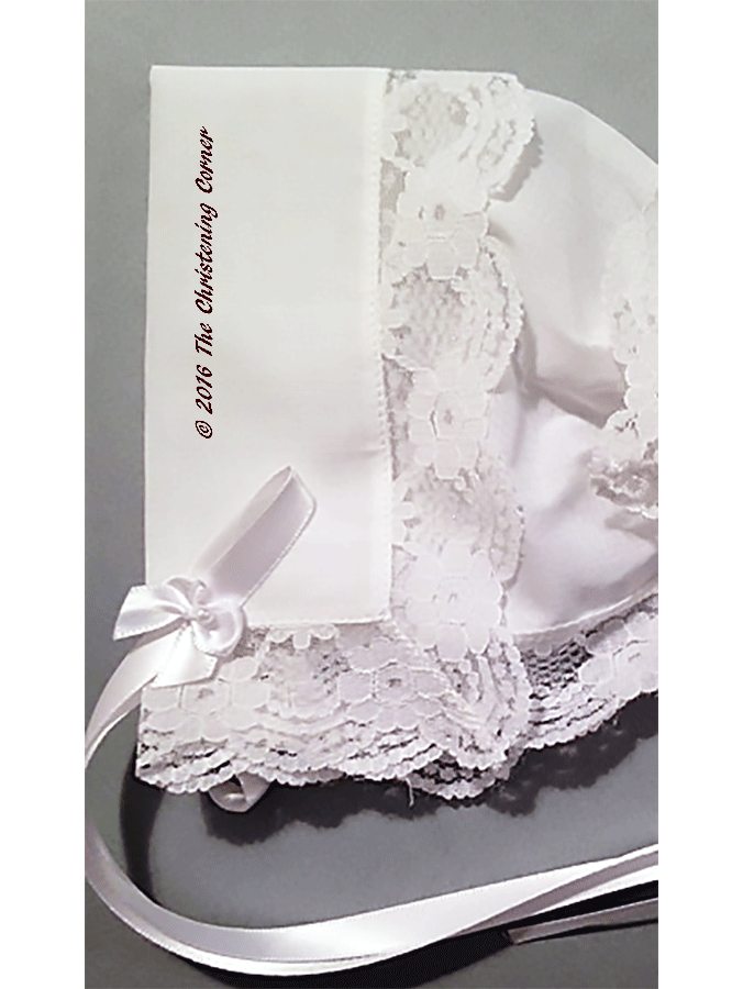 Regal Lace Handkerchief Bonnet - front