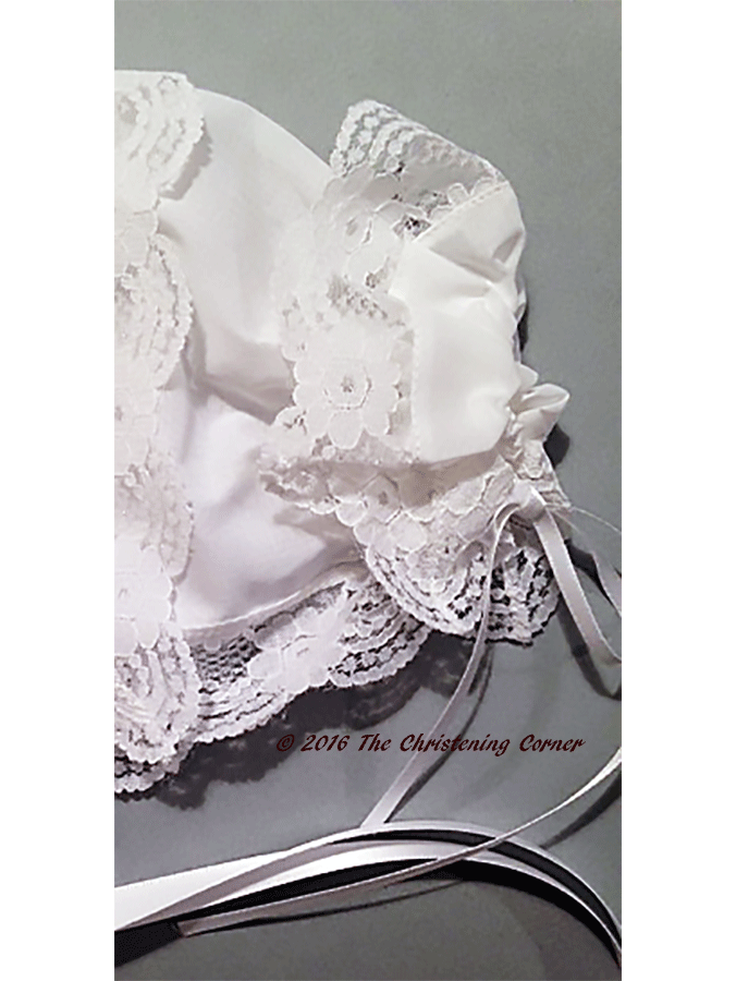 Regal Lace Handkerchief Bonnet - back