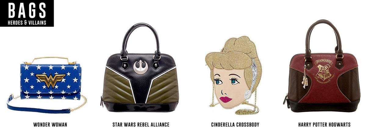 Disney, Star Wars, Harry Potter, Wonder Woman Bags and Purses