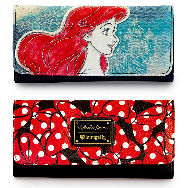 Mother's Day Gifts - Disney Minnie Mouse and Princess Ariel Wallets by Loungefly