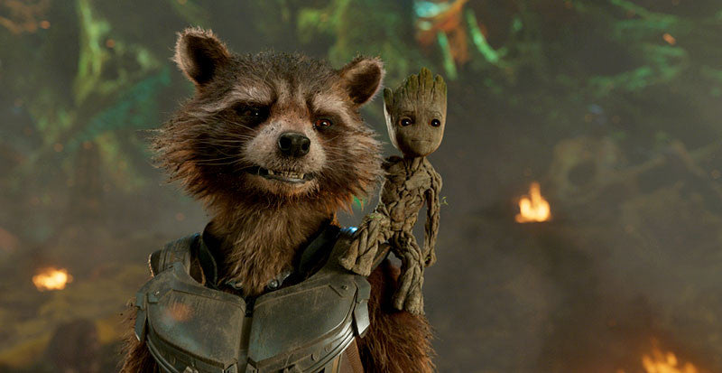 Rocket and Baby Groot in Guardians of the Galaxy Volume 2