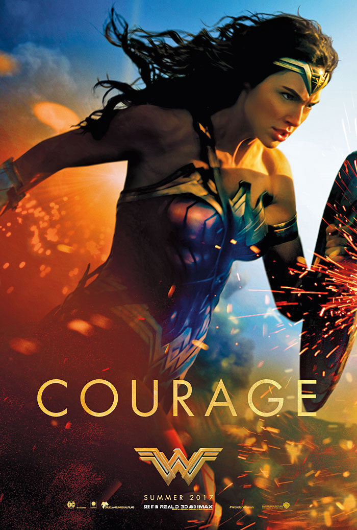 Wonder Woman Movie 2017 - Courage Poster