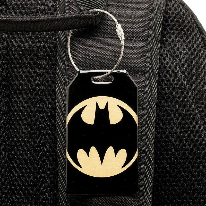 Batman Bag Tag on Backpack