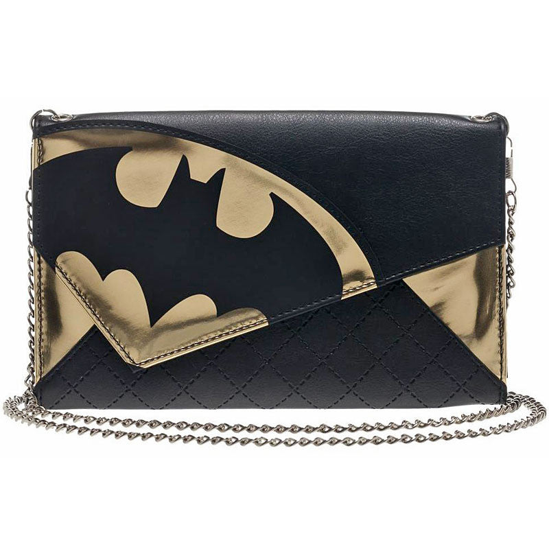 Batman Wallet with Batman Logo and Chain