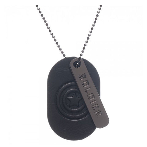Captain America Dog Tag (Necklace with Stamped Metal)