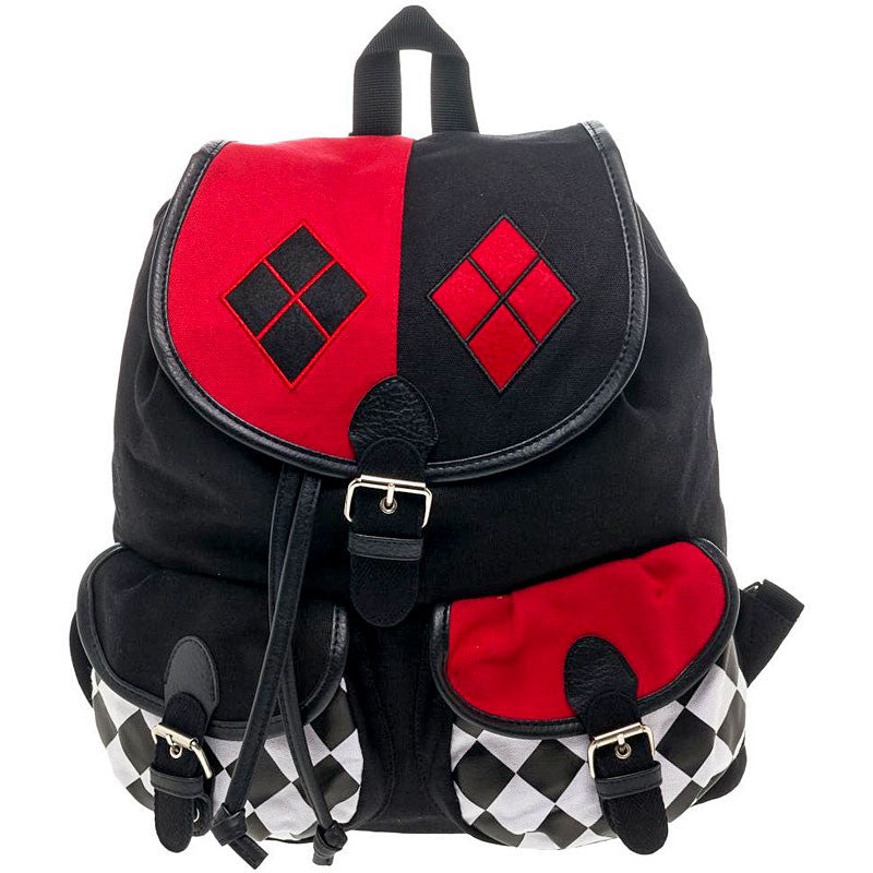Harley Quinn Knapsack with Drawstring - Junior Size