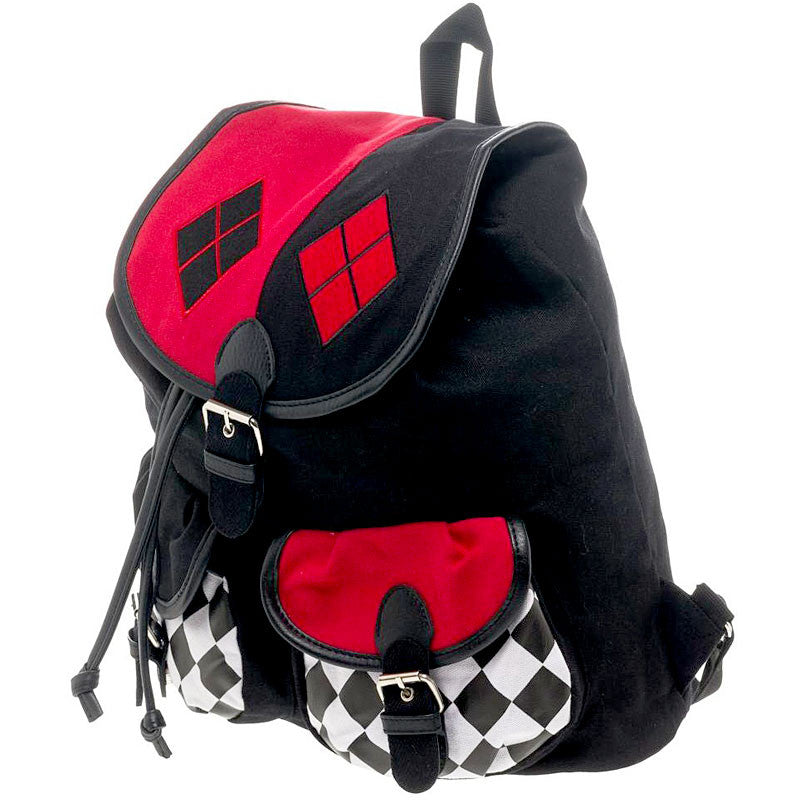 Harley Quinn Knapsack with Drawstring - side view