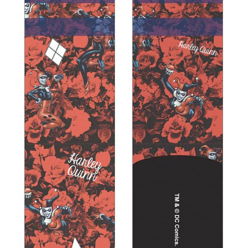 Harley Quinn Sublimated Crew Socks Close Up