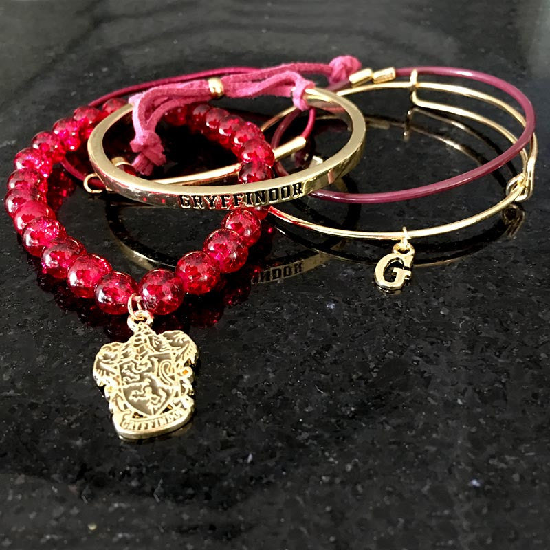 "Harry Potter Bracelets - Gryffindor ""Arm Party"" Bioworld"