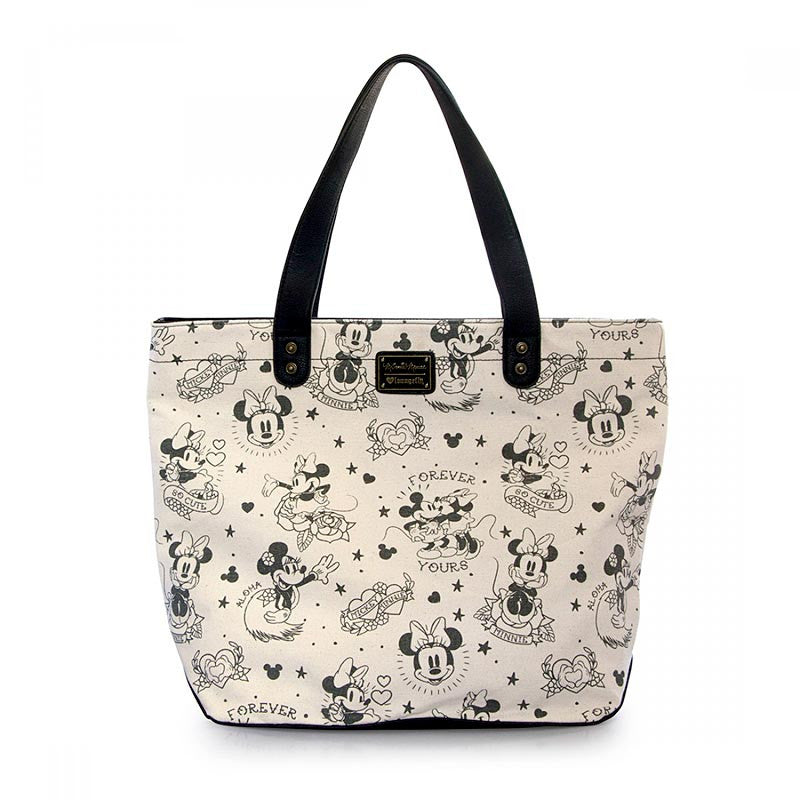 "Disney Minnie Mouse Tote ""Tattoo"" by Loungefly, back"